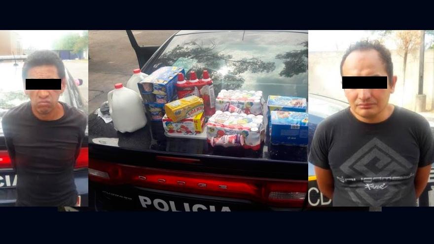 Policías detienen a dos hombres por robo a negocio en GAM