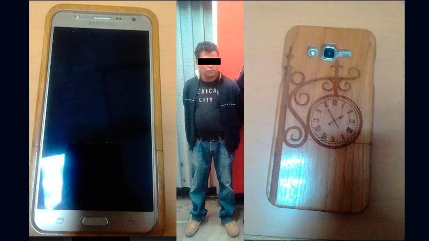 Policías recuperan un celular y detienen a un hombre acusado de robo